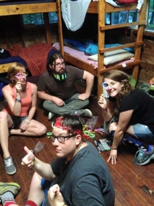 Camp Improv Utopia cabin fun