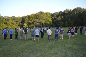Camp Improv Utopia outside circle